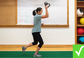 Single-Leg Bottoms Up Kettlebell Exchange